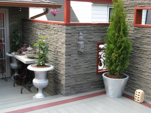 Exterior Stone Wall Landscaping