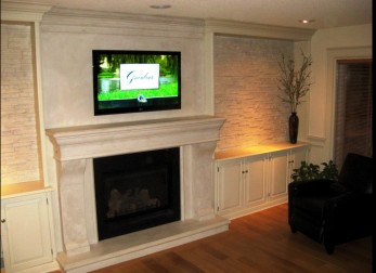 Super Fireplace Feature Wall Design Polyurestone Home Interior And Landscaping Eliaenasavecom
